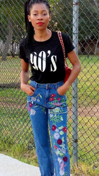 Jean mom & t-shirt les bons basiques (7)